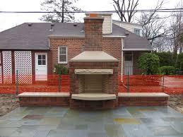 outdoor brick fireplace plans fireplace designs
