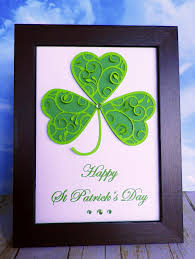 st patrick s day home decorations stamping and stitching handmade home décor happy st patrick u0027s day