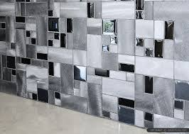MODERN BLACK GLASS METAL BACKSPLASH TILE Backsplashcom - Modern backsplash tile