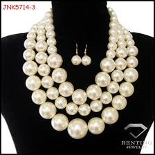chunky necklace set images Latest handmade multi layer big chunky pearl necklace designs jpg