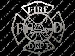 fire department metal wall art sign zoom