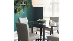 Crate And Barrel Dining Table Ebony Dining Table Base Crate And Barrel