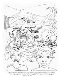 tongues of fire coloring pages holy spirit pentecost coloring