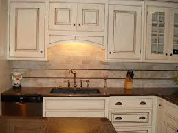 White With Brown Glaze Kitchen by Finished Cream With Glaze Kitchen Pics