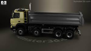 volvo 10 wheeler truck 360 view of volvo fmx tipper truck 2013 3d model hum3d store