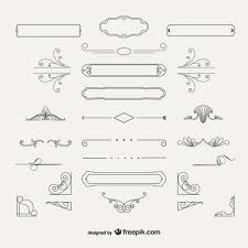 variety of ornamental decorations vector free