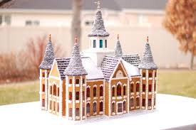 byu student creates gingerbread replica of the provo city center