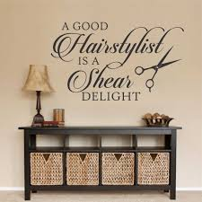 a shear delight quote hairdresser shop decal vinyl lettering