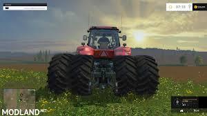 case ih magnum 380 dynamic rear twin wheels mod for farming