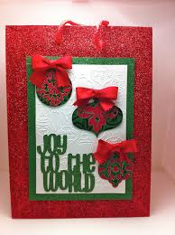 obsessed with scrapbooking cheerful christmas bag with cricut