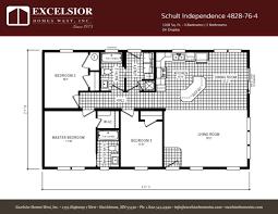 schult floor plans schult independence 4828 76 4 excelsior homes west inc