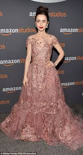 golden globes 2017 lily collins and felicity jones add fairytale