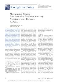maximizing caring relationships between nursing assistants and