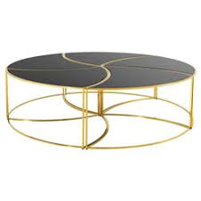 Gold Round Coffee Table Designer Coffee Tables Eclectic Coffee Tables Kathy Kuo Home
