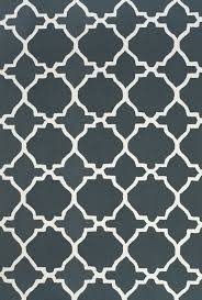 White And Gray Rugs Amalfi Collection Hand Hooked Wool Area Rug In Gray And White By