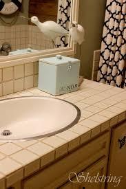 shelstring blog bathroom tile fix how to