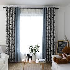black animal modern grommet curtains for kids room