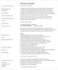 Resume Samples For Banking Sector by 36 Accountant Resume Designs Free U0026 Premium Templates