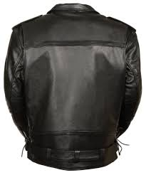 mens leather motorcycle vest mens black classic leather motorcycle jacket w side lace and vents