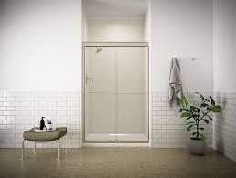 fluence frameless sliding shower door with 1 4 inch glass k