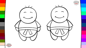 little people coloring page drawing and coloring baby kids