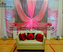 wedding backdrop curtains for sale hot sale white and pink stage background wedding backdrop