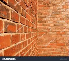 brick walls intersecting inside corner stock photo 2309940