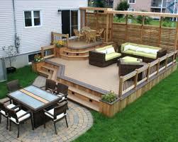 patio ideas small backyard patio deck ideas backyard decks