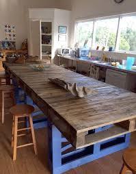 cuisine en palette bois fabriquer un comptoir de cuisine en bois ilot fait palettes