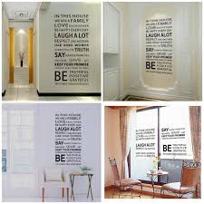 home decor rules family rules big pvc vinyl wall decoration house decal sticker