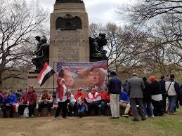 pro sisi rally at lafayette square next to white house egypt