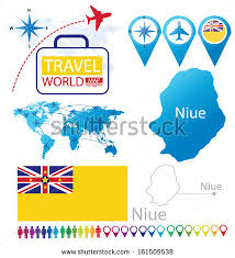 niue on world map niue flag world map travel vector stock vector 161509538