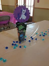 Candy Party Table Decorations My Little Pony Rarity Table Gem Decorations With Pop Rocks Candy