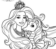 barbie princess coloring pages coloring pages