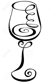 cartoon wine glass swirl clipart wine pencil and in color swirl clipart wine