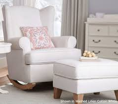 White Rocking Chairs For Nursery Rocking Chair Design Pottery Barn Shown Washed Regarding