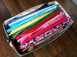 how to use tissue paper in a gift box how i organize our gift wrap andrea dekker