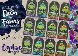 ninja turtle favor tags tmnt favor tag tmnt party ninja