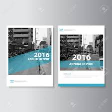 cover layout com simple blue vector annual report leaflet brochure flyer template