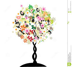 floral tree stock vector image of large background 5172652