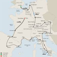 Assisi Italy Map by Globus Tours Europe In Depth 2018