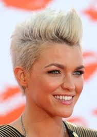 photos of short hair for someone in their sixes amazing pompadour and quiff haristyles short hair ruby rose and