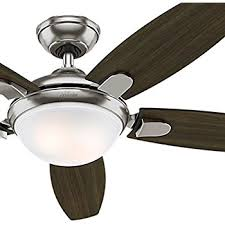 hunter avia led indoor ceiling fan hunter contempo 52 in indoor brushed nickel ceiling fan amazon com