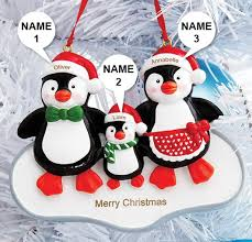 personalised penguin ornament
