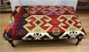 large kilim ottoman stool tables looks glorious whenever placed in