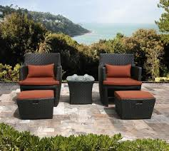 Armchair Ottoman Set The Amazing Outdoor Chair And Ottoman Set Pertaining To Household