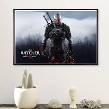 popular game posters framed buy cheap game posters framed lots witcher 3 game vintage canvas art print painting poster wall pictures for room home decoration wall