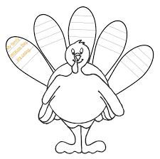 turkey template cut out eliolera