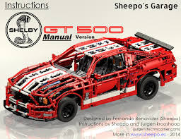 lego porsche instructions sheepo u0027s garage ford mustang shelby gt500 intructions