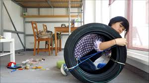 How To Use Old Tires For Decorating Awesome Used Tire Projects Which Is Colored In Black That Will Be